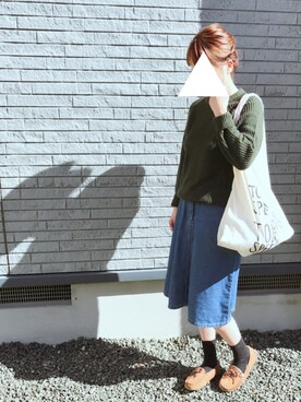 kaaanaさんの「限定マルシェバッグ ベージュ / Marche Bag(TODAY'S SPECIAL|トゥデイズスペシャル)」を使ったコーディネート