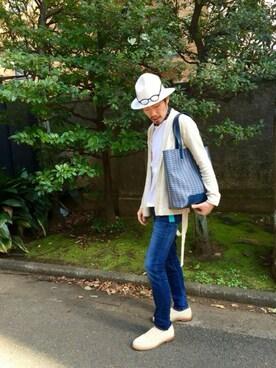 TATRAS&STRADA EST TOKYO|TAMさんの「RED CARD(レッドカード)ストレッチスキニーデニム / Ryder 69890-kid(STRADA EST)」を使ったコーディネート