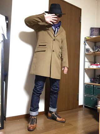 「【OCEANS12月号掲載】ビーミング by ビームス / VALLOMBROSA チェスターコート(B:MING LIFE STORE by BEAMS)」 using this 加藤浩志 looks