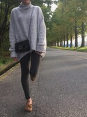 「FOREVER 21 Stretch Knit Leggings(Forever 21)」 using this mi72 looks