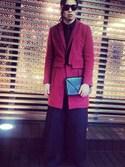 Shunsuke Wadaさんの「【¥1,900+税 セット】シルバーラメレース ブラ&ショーツ Acup~(AMPHI|アンフィ)」を使ったコーディネート