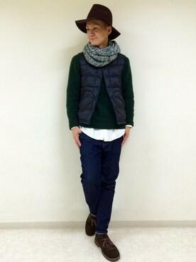 RAGEBLUE町田モディ店|Tsubakiさんの「【ベターコットン使用】OXシャツ長袖/565301(RAGEBLUE|レイジブルー)」を使ったコーディネート