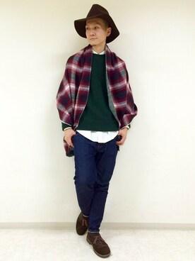 RAGEBLUE町田モディ店|Tsubakiさんの「<今期もマスト>ラウンドツバヒロHAT/569648(RAGEBLUE)」を使ったコーディネート