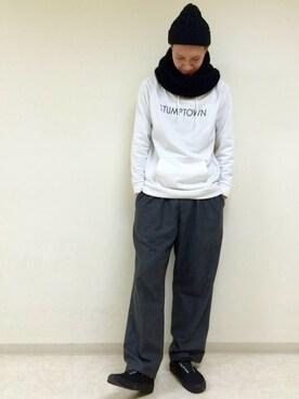 RAGEBLUE町田モディ店|Tsubakiさんの「ローゲージスヌード/705386(RAGEBLUE)」を使ったコーディネート