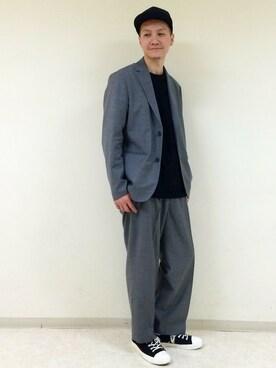 RAGEBLUE町田モディ店|Tsubakiさんのテーラードジャケット「【HY-TEK】ウールモヘアテーラード/746602(RAGEBLUE|レイジブルー)」を使ったコーディネート