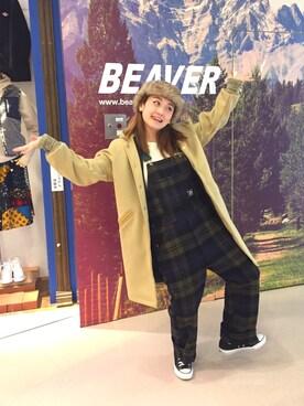 BEAVER大阪店|リナリナ~さんの「HIPPY TREE/ヒッピーツリー FARGO HAT(BEAVER)」を使ったコーディネート