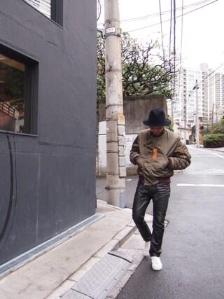 ユナイテッドアローズ 原宿本店 メンズ館|Masaru Hashimotoさんの「HUMAN MADE(ヒューマン メイド) NA-1 JACKET(HUMAN MADE|ヒューマンメード)」を使ったコーディネート