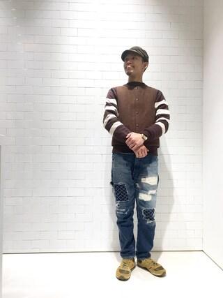 ユナイテッドアローズ 原宿本店 メンズ館|Masaru Hashimotoさんの「HUMAN MADE(ヒューマン メイド) FOOTBALL SWEAT(HUMAN MADE|ヒューマンメード)」を使ったコーディネート