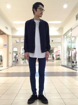HAREららぽーとTOKYO-BAY店|斉藤 遼さんの「ライトスナップブルゾン(HARE)(HARE)」を使ったコーディネート