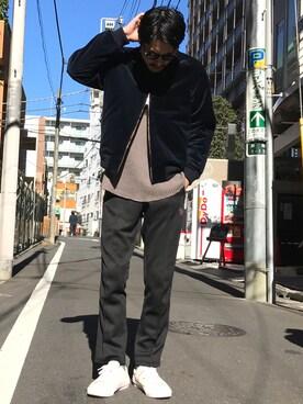 HARE渋谷 斉藤 遼さんの(Needles ニードルス)を使ったコーディネート