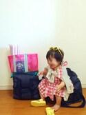 cheryukaさんの「ワンポイントプリントビーチバッグ(Ampersand|アンパサンド)」を使ったコーディネート