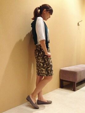 ikka 札幌平岡店 ikka SAPPOROHIRAOKA STAFFさんの「12Gシルク混カーディガン(ikka)」を使ったコーディネート