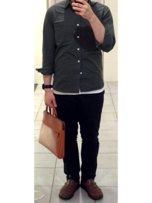オーガニックコットン洗いざらしブロードスタンドカラーシャツ 紳士S・ネイビー | 無印良品ネットストア