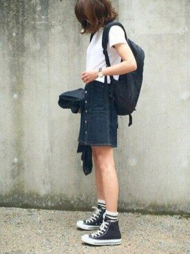 あさひさんの「CAP SLEEVE Tシャツ◆(Deuxieme Classe)」を使ったコーディネート