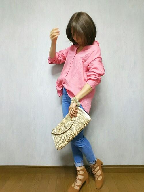 yukippe♡.* (ゆきっぺ)さんの「WOMEN プレミアムリネンシャツ(長袖)A(ユニクロ)」を使ったコーディネート