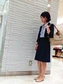 m.f.editorial スタッフさんの「エムエフエディトリアル レディース/m.f.editorial:Women ブリーズクールセットアップフレアースカート(m.f.editorial|エムエフエディトリアル)」を使ったコーディネート