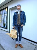 「Levis Vintage 1970s Sherpa Lined Trucker Rinse - Blue(Levi's)」 using this 패션맥(passionMaG.co.kr) looks