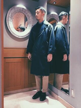 ユナイテッドアローズ 札幌店|Satoru Tsushimaさんの「TIELOCKEN COAT(COMOLI|コモリ)」を使ったコーディネート
