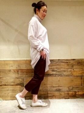 journal standard luxe 渋谷店|journal standard luxe 表参道店スタッフさんのパンツ「ソロテックスツイル マッキンパンツ_#(JOURNAL STANDARD LUXE|ジャーナルスタンダード ラックス)」を使ったコーディネート
