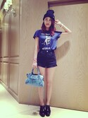「Project Social T You Must Be Kitten Me Tee(Urban Outfitters)」 using this Emily looks