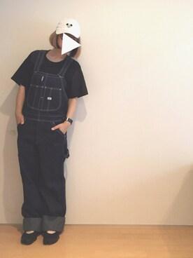 yukaさんの「∴WEGO/Disneyローキャップ(Disney|ディズニー)」を使ったコーディネート