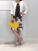 「Love Moschino Cut Out Heart Clutch Bag in Yellow(Love Moschino)」 using this vicky_onoda looks