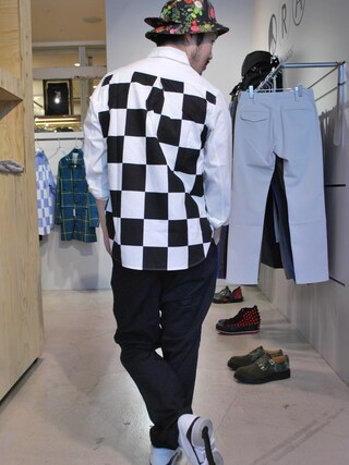 Revelations/|tado_billさんの「Name. FINX OXFORD CHEKERED FLAG SHIRT(Name.|ネーム)」を使ったコーディネート