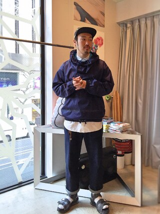 Revelations/|tado_billさんの「Name. With Tomo&co AIR SOLE SANDAL 【Revelations/別注カラーあり】(Name.|ネーム)」を使ったコーディネート