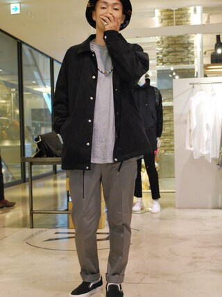 Revelations/|tado_billさんの「PHINGERIN COACH JACKET MICRO SUEDE SP 【Revelations/別注】(PHINGERIN|フィンガリン)」を使ったコーディネート