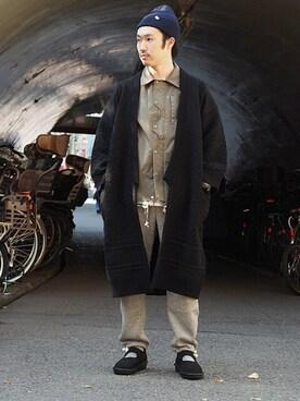 Revelations/|tado_billさんの「YASHIKI Sanpaku Coat(Revelations/)」を使ったコーディネート