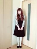 M!!!ca♥︎さんの「パールネックレス 刺繍切替ストレートワンピース(peu pres|プープレ)」を使ったコーディネート