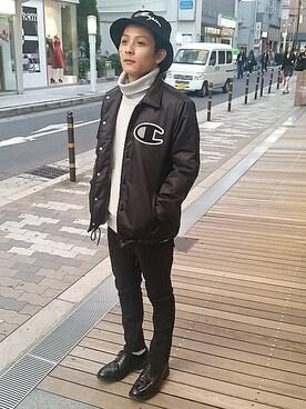 And A 心斎橋OPA店|Satoshiさんの「|Champion/チャンピオン×And A 別注 コーチジャケット(And A)」を使ったコーディネート