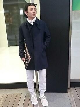And A 心斎橋OPA店|Satoshiさんの「MELTON SOUTIEN COLLAR COAT(And A)」を使ったコーディネート