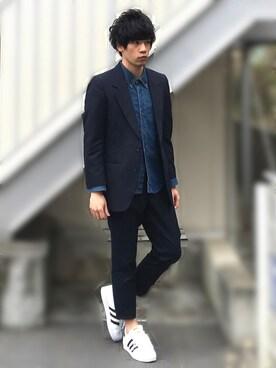 [Hirotaka]さんの「<BROOKLYN TAILORS> W/MOHAIR 2B/スーツ ◆(BEAUTY&YOUTH UNITED ARROWS)」を使ったコーディネート