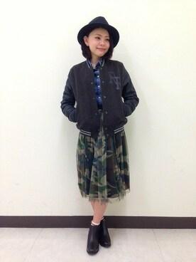 B'2nd  横浜|B'2nd re'qua 横浜さんの「REMI RELIEF (レミレリーフ) レザースタジャン BROOKLYN (504)(REMI RELIEF)」を使ったコーディネート