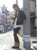 Fumihito Sekineさんの「ブラックダイヤモンドミニウォレット(JAM HOME MADE|ジャムホームメイド)」を使ったコーディネート