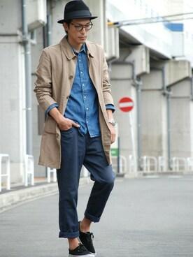 BACKWARD Online Store|BACKWARDさんの「フェルトリボン中折れハット メンズ&レディース(STORES.jp)」を使ったコーディネート