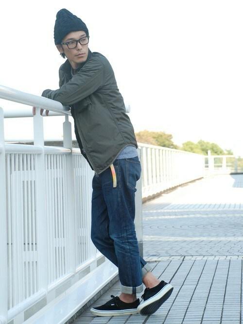 BACKWARDさんの「ケーブル編みニットキャップ メンズ&レディース(STORES.jp)」を使ったコーディネート