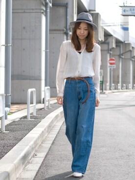 BACKWARD Online Store|BACKWARDさんの「リボン中折れメッシュハット メンズ&レディース(STORES.jp)」を使ったコーディネート
