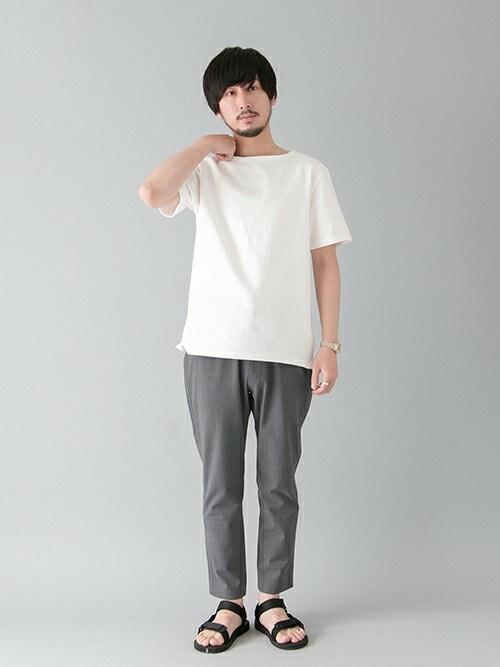 moriyamaさんの「URBAN RESEARCH バスクTEE(URBAN RESEARCH)」を使ったコーディネート