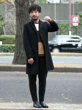 アーバンリサーチ西梅田 ブリーゼブリーゼ店|moriyamaさんの「UR PONTETORTO CHESTER COAT(URBAN RESEARCH)」を使ったコーディネート