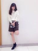Naoko.Hosokiさんの「スエードショートパンツ(UNRELISH|アンレリッシュ)」を使ったコーディネート