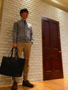 「WILKINS(OLIVER PEOPLES)」 using this BRITISH MADE大阪店|戸川 looks