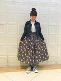 takita mikiさんの「BEAMS BOY / リバティ キャンディウエスト ロングスカート(BEAMS BOY|ビームスボーイ)」を使ったコーディネート