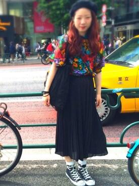 ミユキさんの「ランダムプリーツスカート/714960(JEANASIS)」を使ったコーディネート