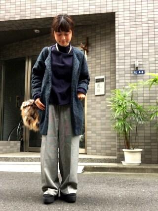 Miiiiiさんの「MIX フェイクファークラッチバッグ(fredy emue|フレディ エミュ)」を使ったコーディネート