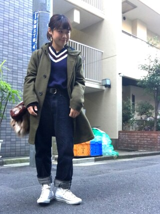 Miiiiiさんの「Vネック トップ(Traditional Weatherwear|トラディショナルウェザーウェア)」を使ったコーディネート