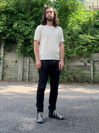 「Our Legacy Slub Silk T-Shirt(Our Legacy)」 using this Kyle looks
