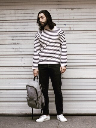 「NAVAL STRIPE JERSEY(MHL.)」 using this Kyle looks