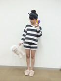 Cocoonist_Official(Yumi Ueno)さんの「QE80 ベアぬいぐるみL(Cocoonist|コクーニスト)」を使ったコーディネート